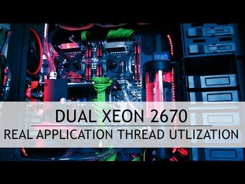 Dual Xeon 2670 Cinebench, HandBrake, Adobe Encoder CPU Utilization