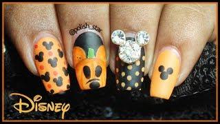 Mickey's Pumpkin Nail Art (Disney's Halloween)