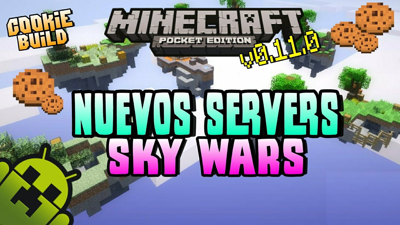 "Server Sky Wars Beta   Minecraft Pe 0.11.0 ""SW"" - YouTube"