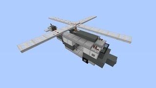 видео: Как построить вертолет в Minecraft [Квадратная красота]