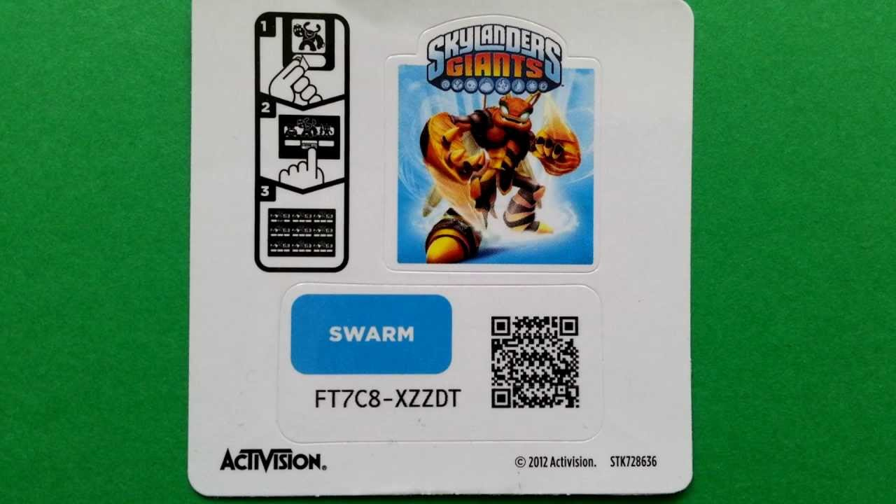Swarm Skylanders Giants unused webcode / onlinecode - YouTube