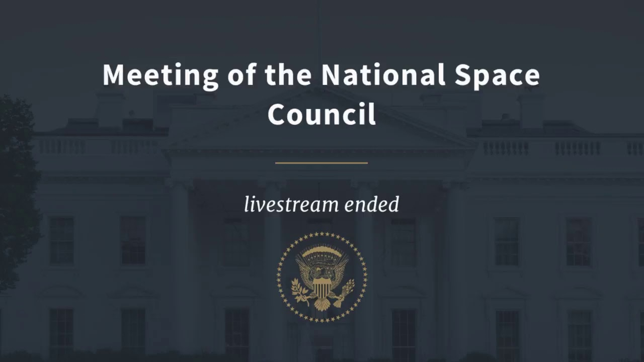 Meeting of the National Space Council
