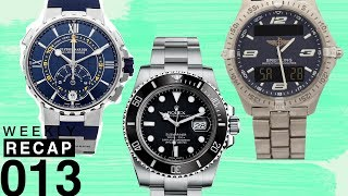 Weekly Recap: Best Watches When At Sea and Comparing Dive Watch Market Values