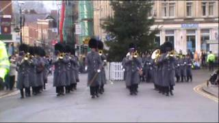 Windsor changing of the guards scots guards band xmas eve.wmv