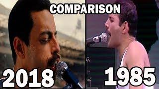 Queen vs. Bohemian Rhapsody movie (at Live aid 1985) Comparison mp3