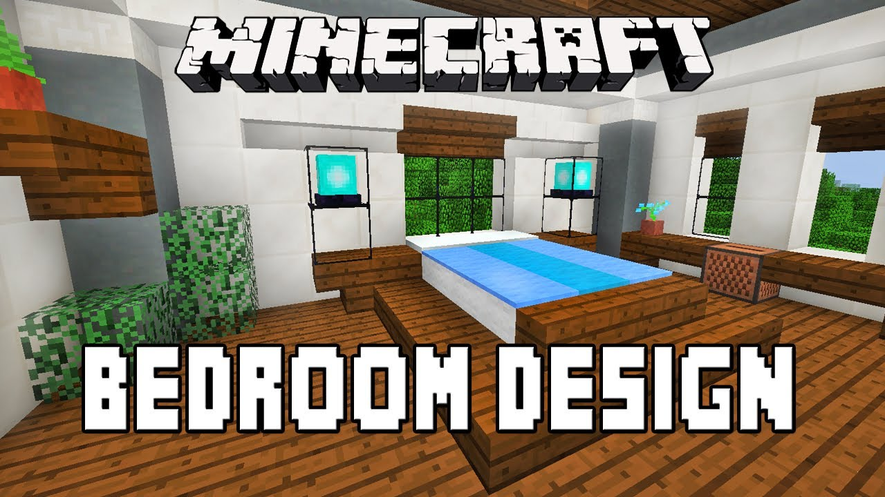Minecraft Furniture Bedroom minecraft tutorial: how to make a modern bedroom design (modern