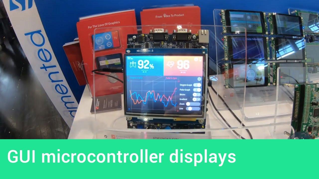 Stunning GUI microcontroller displays