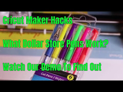 Cricut Maker -  Can It Use Pens From The Dollar Tree? Find Out Now!!!