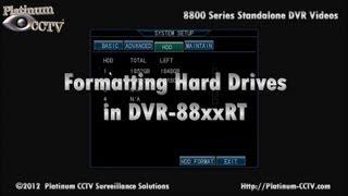 Format Hard Drive - DVR-88xxRT - H.264 Standalone DVR
