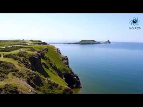 Gower Coast - Worms Head, Rhossili - Sky Eye Production
