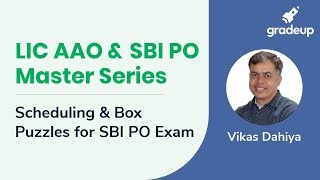 LIC AAO & SBI PO Master Series: Scheduling and Box Puzzle
