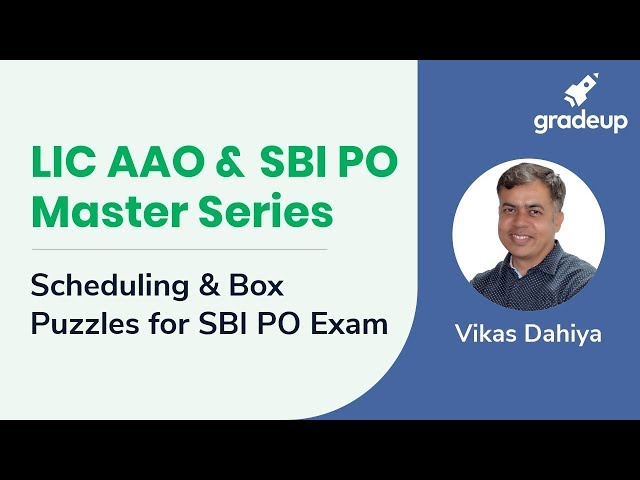 LIC AAO & SBI PO Master Series | Scheduling and Box Puzzle