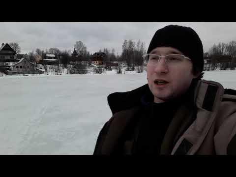 Зимняя рыбалка на озере под Всеволожском.