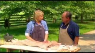 Martha Stewart Cooks Using La Caja China Pig Roaster!