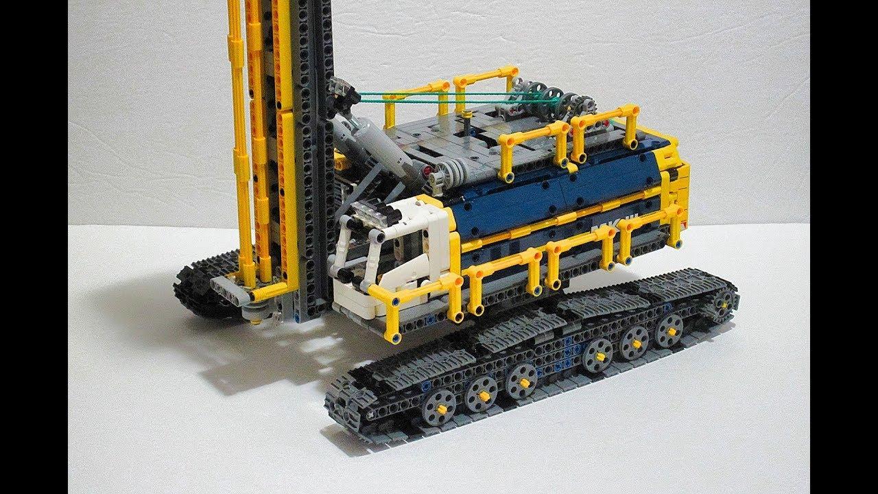 Lego Technic Heavy Drill Rig 42055 C Model Youtube