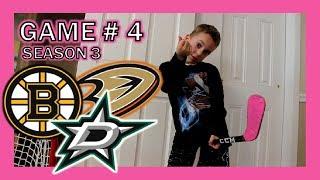 KNEE HOCKEY SEASON 3 - GAME 4 - BRUINS / STARS / DUCKS - QUINNBOYSTV