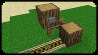 ✔ Minecraft: How to make a Simple Minecart Start-Off Station (Improved Version)