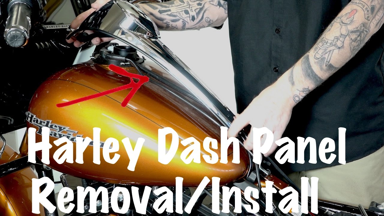 How To Remove & Install Harley Fuel Tank Dash Panel Console-DIY