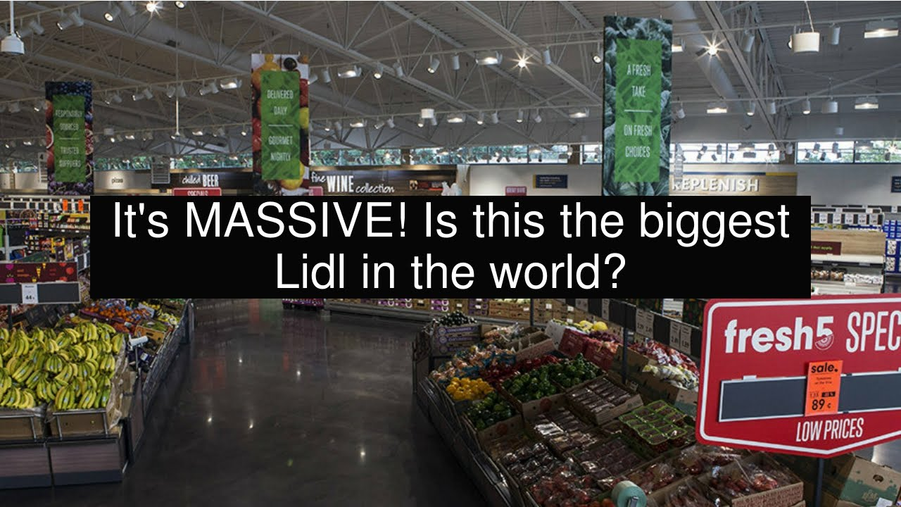 It's MASSIVE! Is this the biggest Lidl in the world?