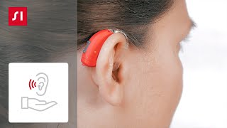 How to put a Signia BTE (behind-the-ear) hearing aid on your ear
