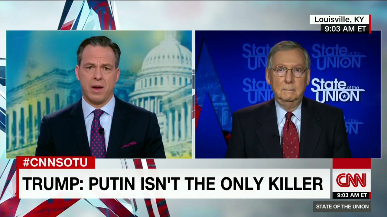 Image result for McConnell calls Putin a thug