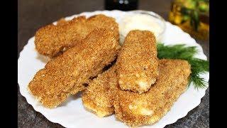 Жареный сыр Хрустящие Сырные Палочки. Вкусная горячая закуска к Пиву и не Только