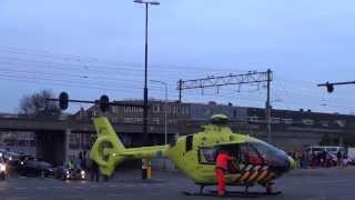 Lifeliner landt tijdens carnaval midden op de kruising Spoorlaan / Heuvelring Tilburg + Vertrek