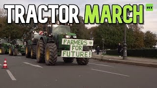 Tractor March German Farmers Protest New Eu Eco-rules And Agricultural Policies