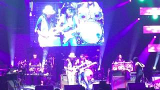Micki Free jamming with Carlos Santana. July 1, 2017