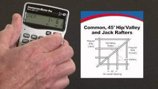 How to Calculate Rafters -- Commons, 45/non-45 Hips/Valleys & Jacks | Construction Master Pro