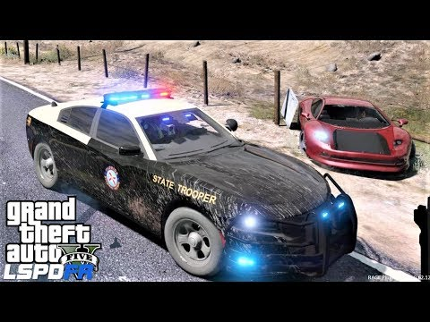 GTA 5 LSPDFR Florida Highway Patrol High Speed Chase With Spike Strips & Pit Maneuver