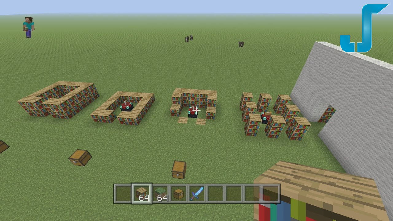 minecraft xbox: enchanting room layouts -- 15 bookshelves - youtube