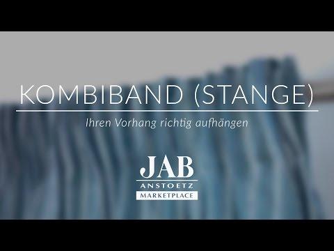 Vorhang Mit Kombiband An Einer Stange Richtig Aufhängen Jab Anstoetz Online You