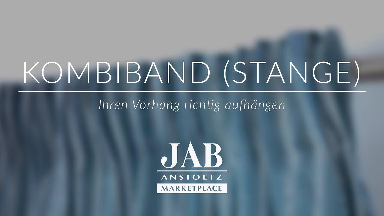 Vorhang Mit Kombiband An Einer Stange Richtig Aufhängen Jab Anstoetz Online