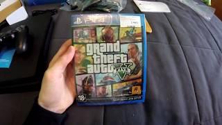 Распаковка и обзор диска GTA 5 для PS4