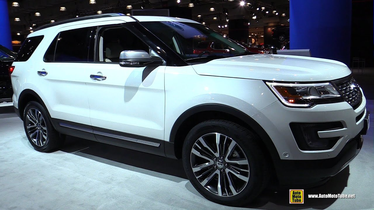 2016 ford explorer platinum exterior and interior walkaround 2016 new york auto show youtube
