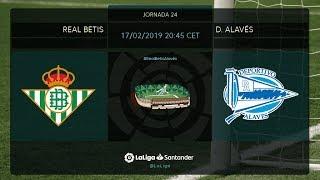 Calentamiento Real Betis vs D. Alavés