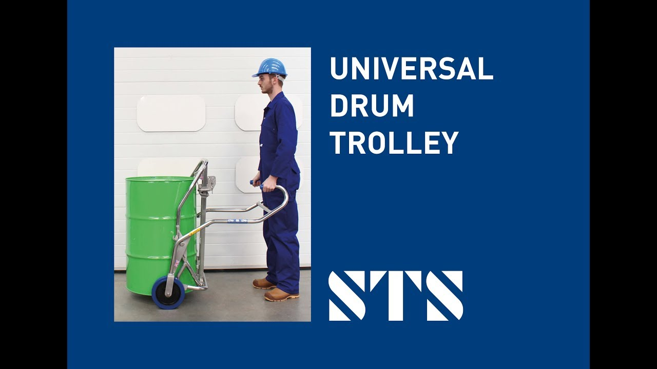 Universal Drum Trolley for 50- to 205-Litre Steel and Plastic Drums (Model: DTC01)