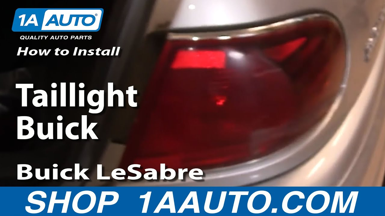 hight resolution of how to replace tail light 00 05 buick lesabre