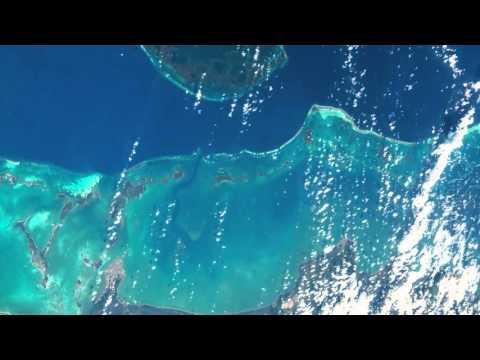 Belize coastline and barrier reefs