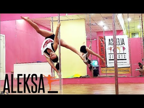 Вылет и выход во флаг. Pole Dance (Пол Дэнс) Pole Sport. Анастасия Сапрыкина в Aleksa Studio