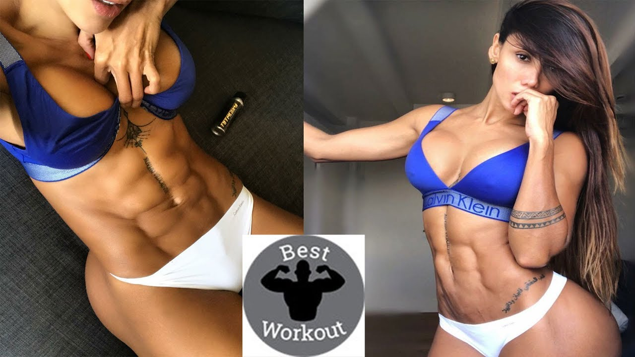 Female Fitness Motivation  Girls Amazing Six Pack Abs -3266
