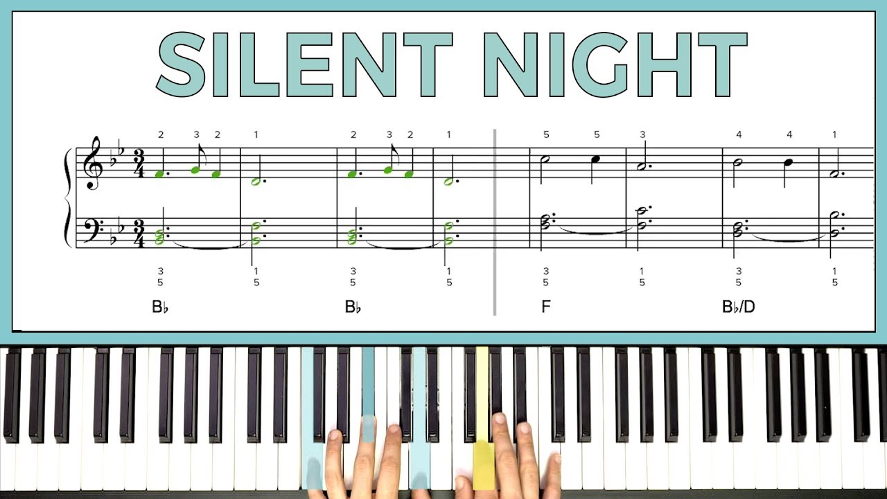 How to play 'SILENT NIGHT' on the piano -- Playground Sessions
