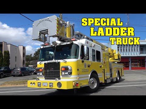 [RARE & SPECIAL LADDER TRUCK!] - Victoria Fire Department Engine 1, Rescue 1 & Ladder 1 Responding