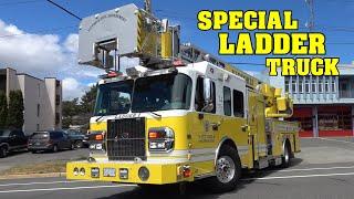 [RARE & SPECIAL LADDER TRUCK!] - Victoria Fire Department Engi…