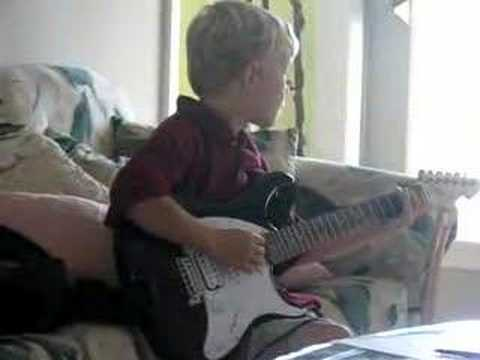 8 year old Greyson Schmitt plays AC/DC TNT