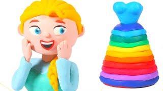 PRINCESS NEW DRESS ❤ Superhero Babies Play Doh Cartoons For Kids