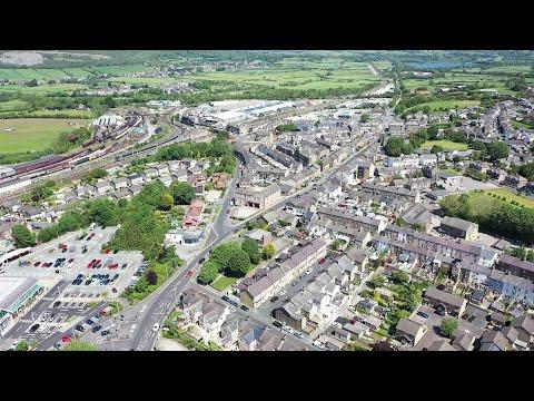 Carnforth - Lancashire - UK.  A Birds Eye View. May 2020