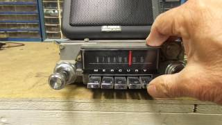 1965 Mercury Monterey Montclair Park Lane AM Push Button Radio