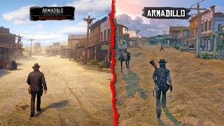 RDR1 vs RDR2 Red Dead Redemption vs Red Dead Redemption 2 Map Comparison